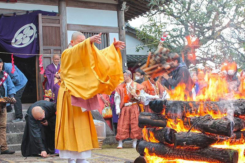 東福寺正覚庵の筆供養のお焚き上げ
