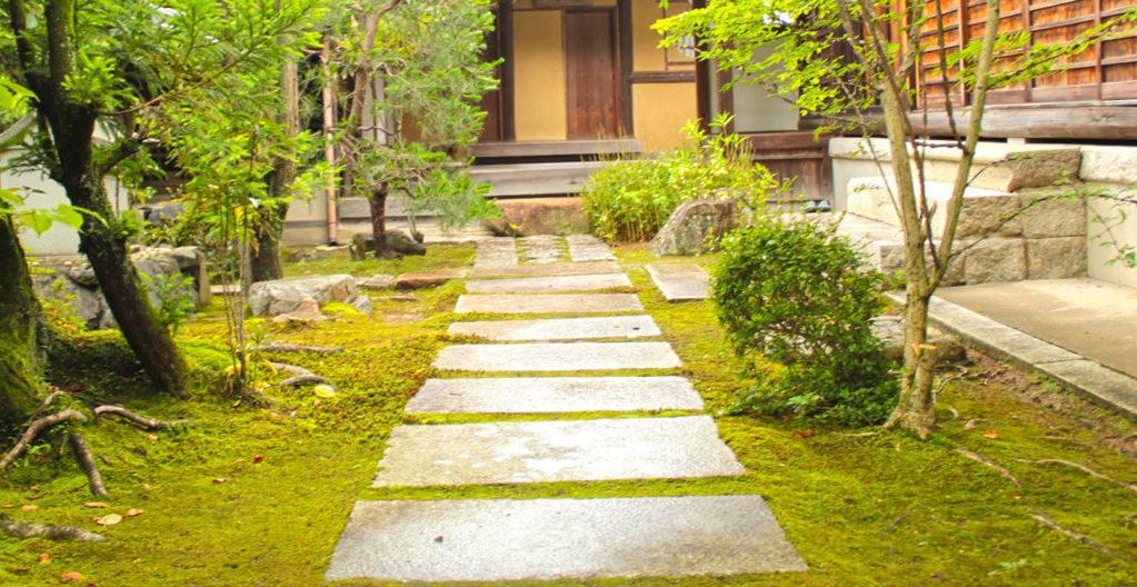 正覚庵の茶室への路