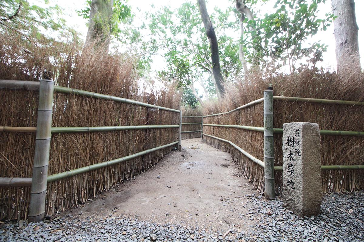 荘厳院の墓苑までの道