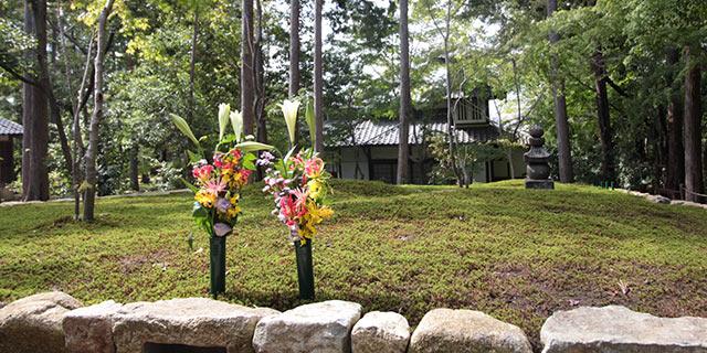 正覚庵の樹木葬の法要祭の様子