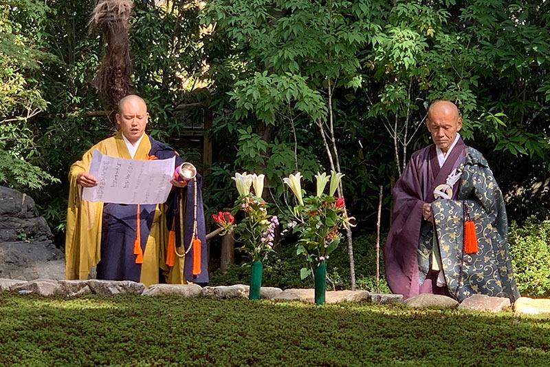 正覚庵の樹木葬の法要祭の法要