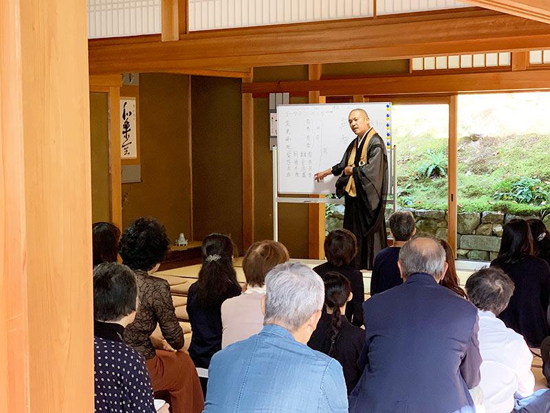 正覚庵の樹木葬の法要祭の法話