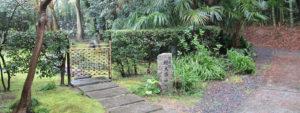 東福寺荘厳院の樹木葬地前の山道