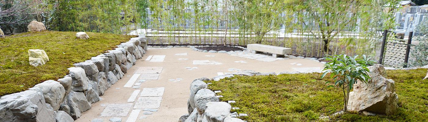 大徳寺の正受院の樹木装置の風景