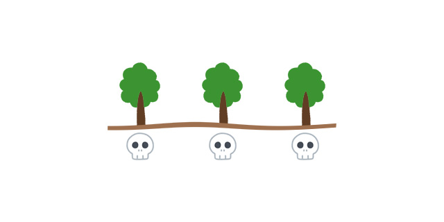 樹木葬の樹木は一人一本