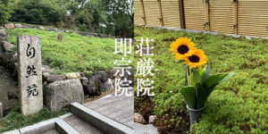 即宗院と荘厳院の墓苑風景