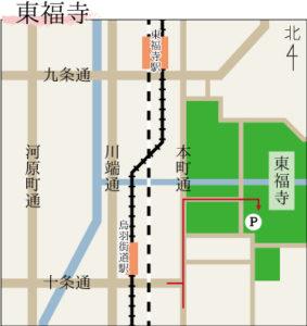 東福寺の駐車場マップ