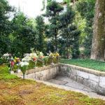 両足院の秋の供養祭の墓苑風景