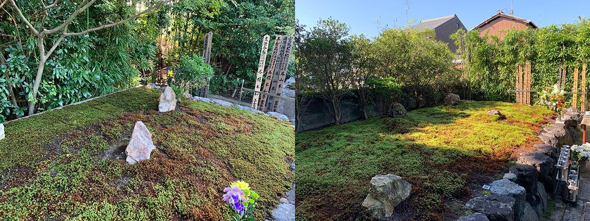 正受院2020年秋の供養祭の墓苑