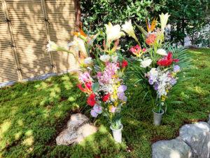 荘厳院の供養祭のお花の写真