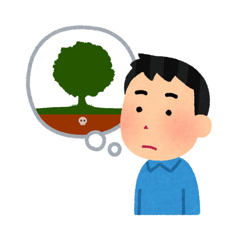 樹木葬を想像する