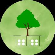 樹木葬の個別埋葬家族墓のイメージ