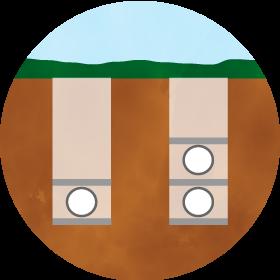 樹木葬の区画イメージ