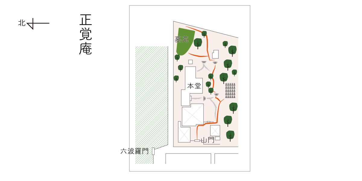 正覚庵の境内図