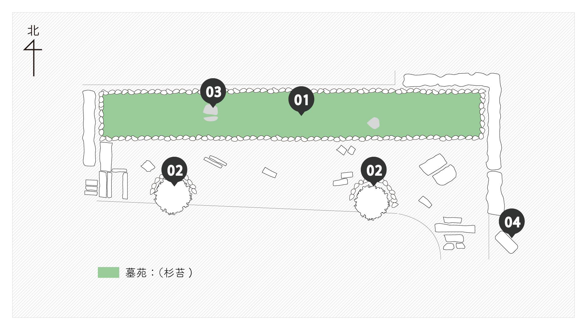 荘厳院樹木葬の墓苑図