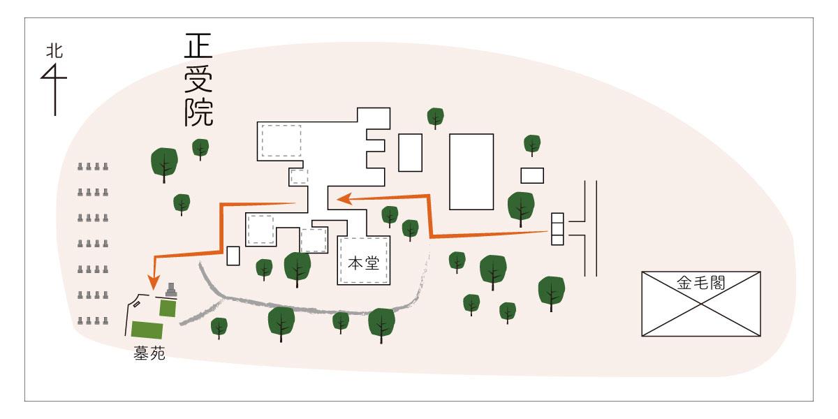 正受院の境内図