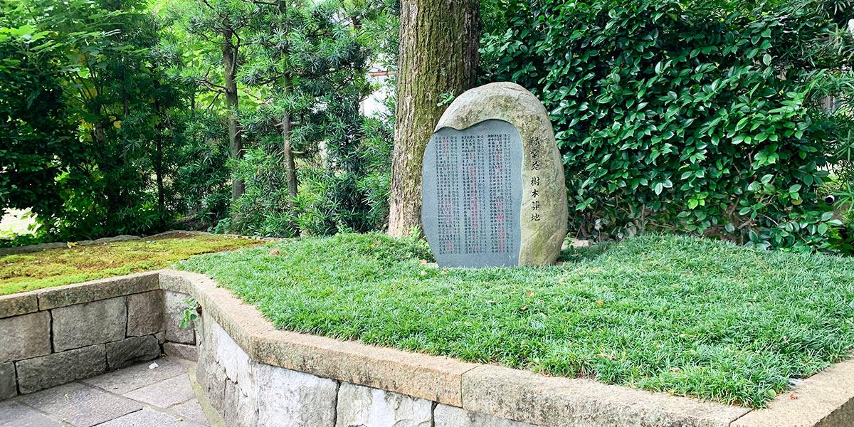 両足院の樹木葬の風景