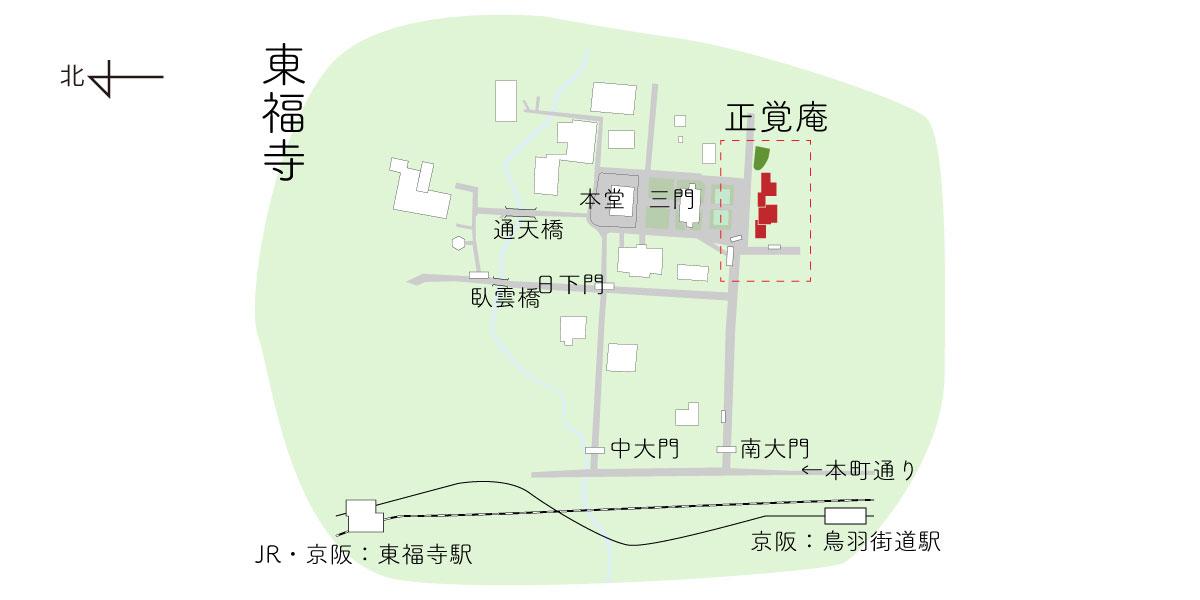 建仁寺の両足院の境内図
