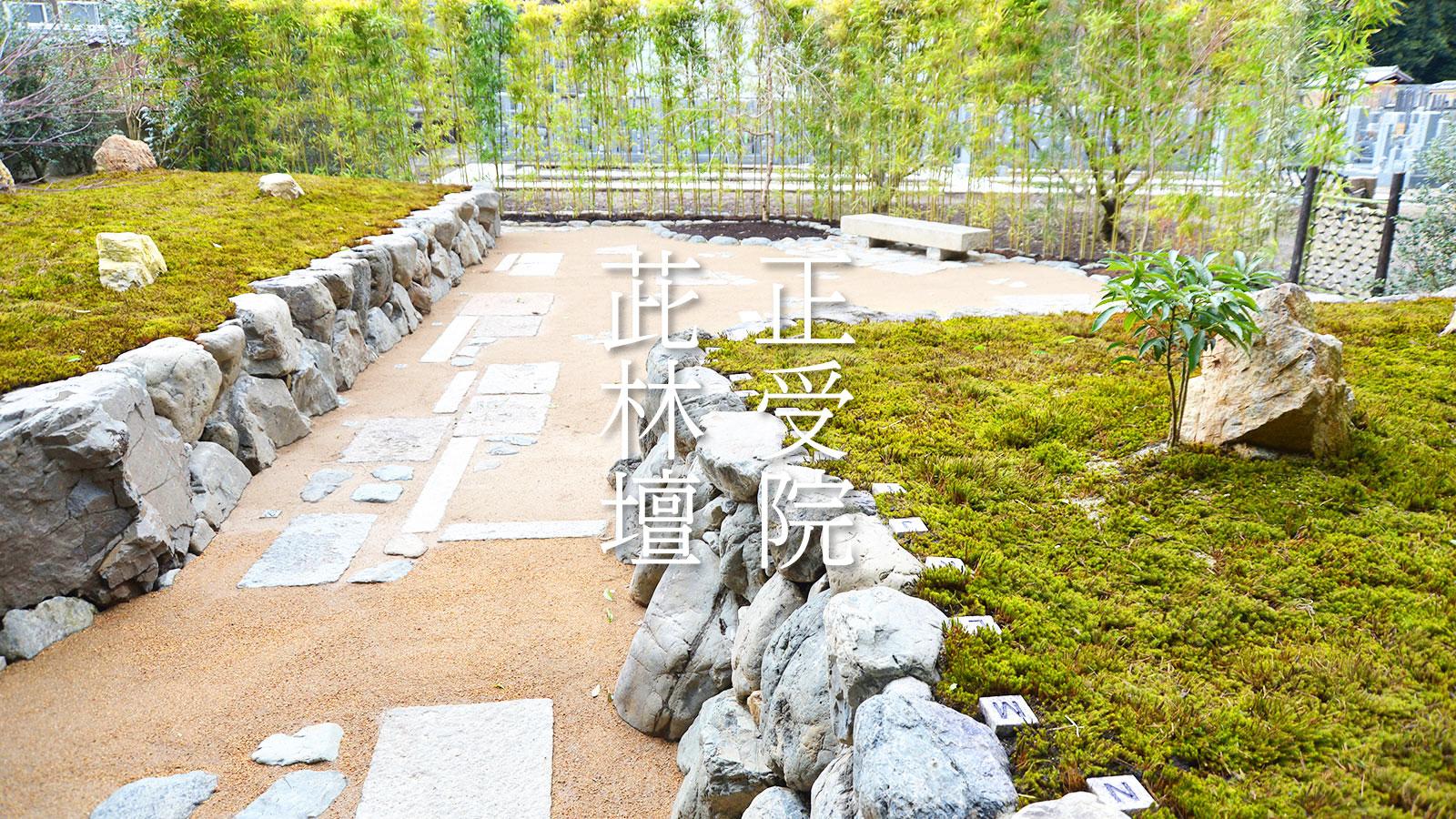 荘厳院樹木葬の西からの全景